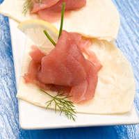 Carpaccio vom Thunfisch - und dazu den besten Wein